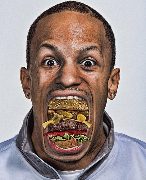 photomontage burger